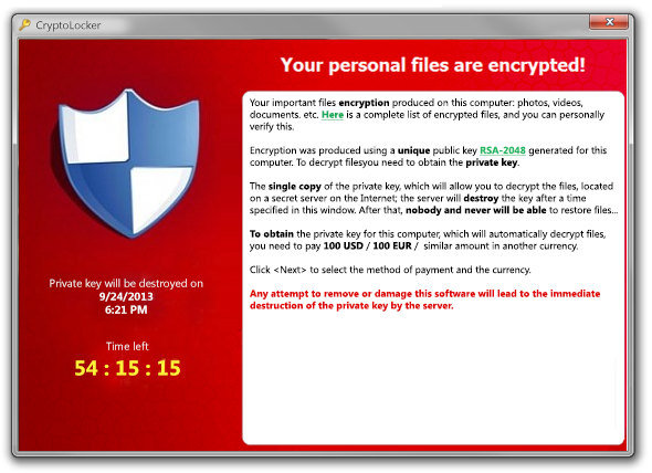 CryptoLocker Pic
