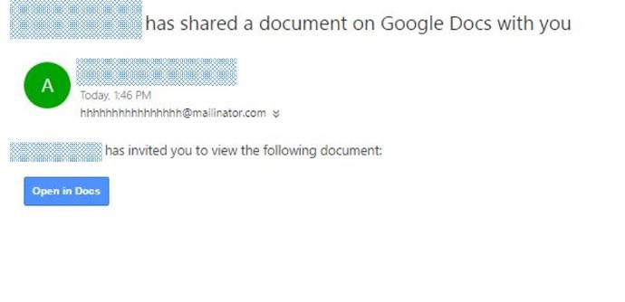 how to open google docs in email