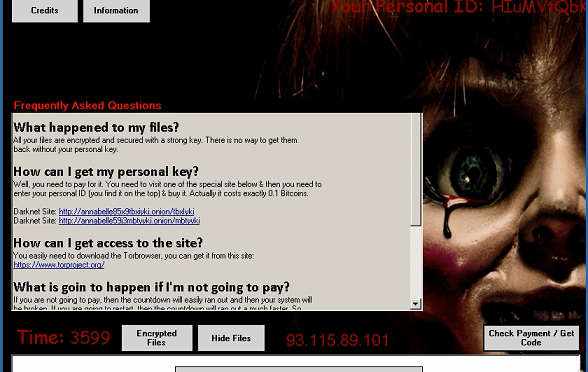 Annabelle Ransomware Creating Horror for Infected Computers
