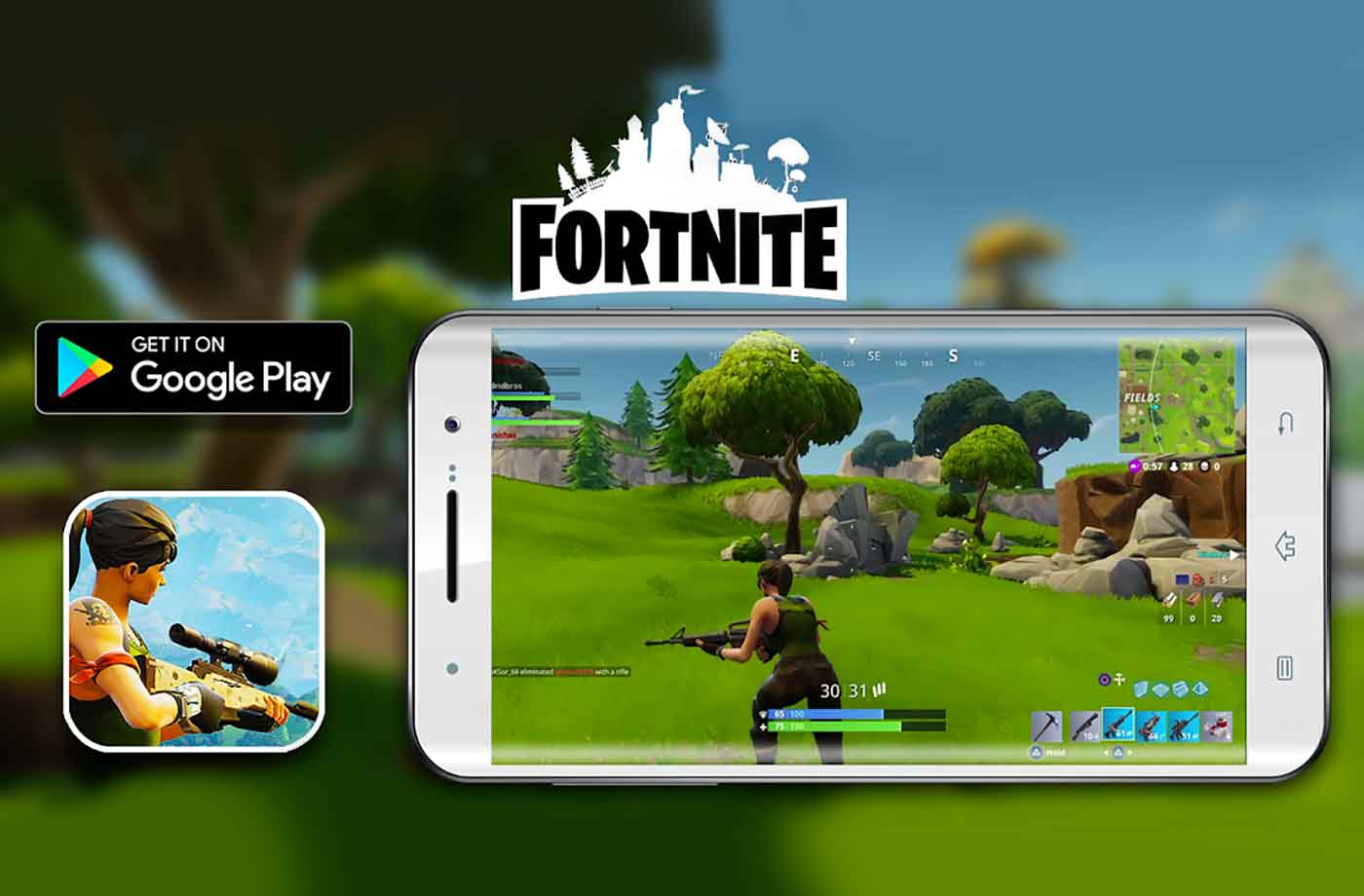 google researchers find dangerous security flaw in fortnite s android app - fortnite app on phone