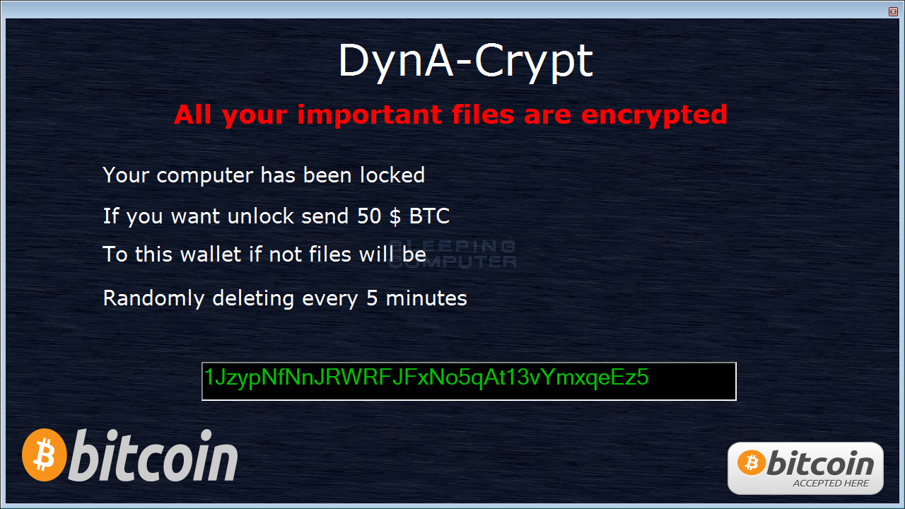 DynA-Crypt - Encrypts AND Steals Your Data