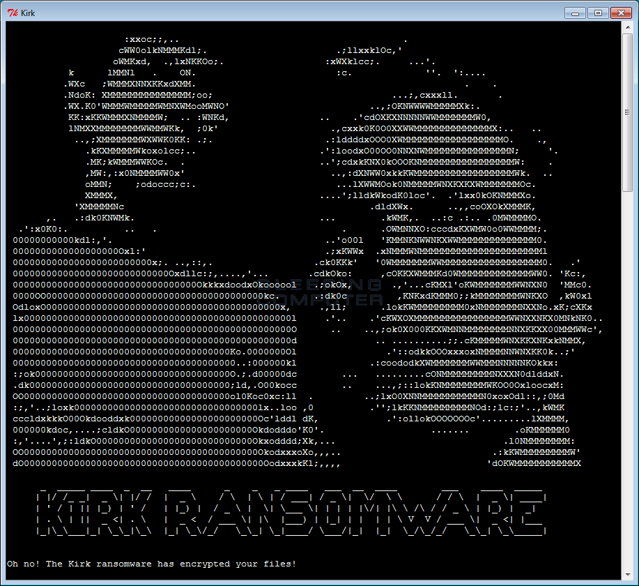 Star Trek Themed Ransomware