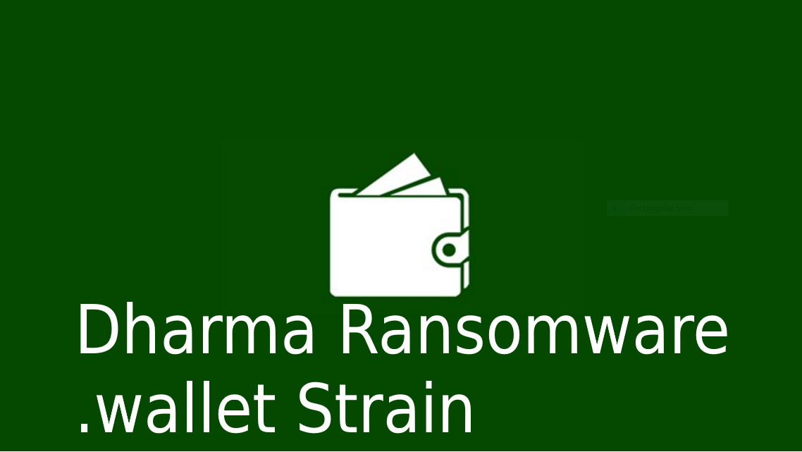 Dharma Ransomware Has A New Extension